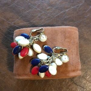 Vintaged clip All American earrings